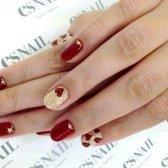 Як намалювати сердечко на нігтях