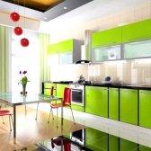 Кухня кольору лайма