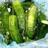 Малосольні огірки без розсолу