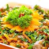 Ситний салат з яловичим серцем і горіхами