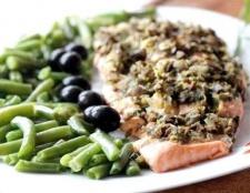 Готуємо філе лосося з оливками