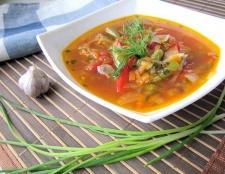 Грибний суп з червоною квасолею