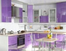 Інтер'єр кухні в бузковому кольорі