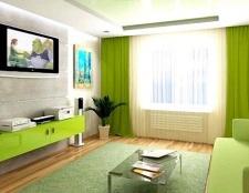 Інтер'єр в зеленому кольорі