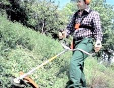 Як косити траву