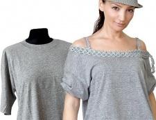 Як переробити чоловічу футболку в жіночу