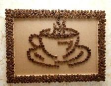 Як зробити картину з кавових зерен