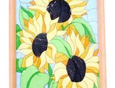 """Як зробити картину """"соняшники"""" способом печворк без голки"""