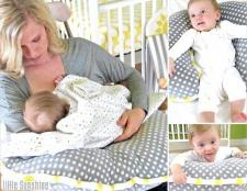 Як зшити подушку для годування дитини