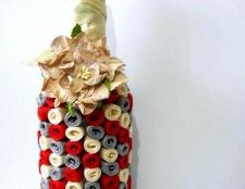 Як прикрасити пляшку стрічками