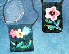 Як прикрасити джинсову сумку і чохол для телефону