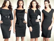 Яке плаття можна зшити з щільної тканини