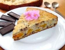 Пиріг з додаванням шоколаду і мандаринів