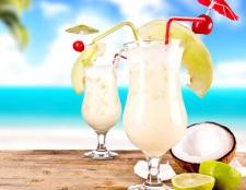 Рецепти коктейлів з кокосовим сиропом