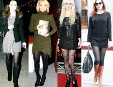 З чим носити чорні колготки