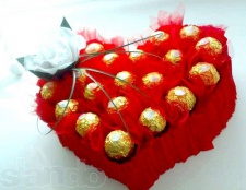 Серце з цукерок