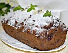Шоколадний кекс з вишнею