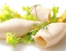Скільки часу потрібно варити кальмари на салат