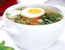 Суп зі свинини з яйцем і вермішеллю