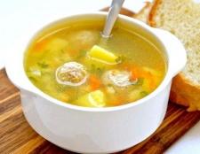 Суп з м'ясним фаршем і грибами