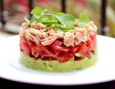 Тімбал з авокадо і тунця